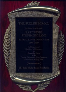 Sudler Silver Scroll Plaque